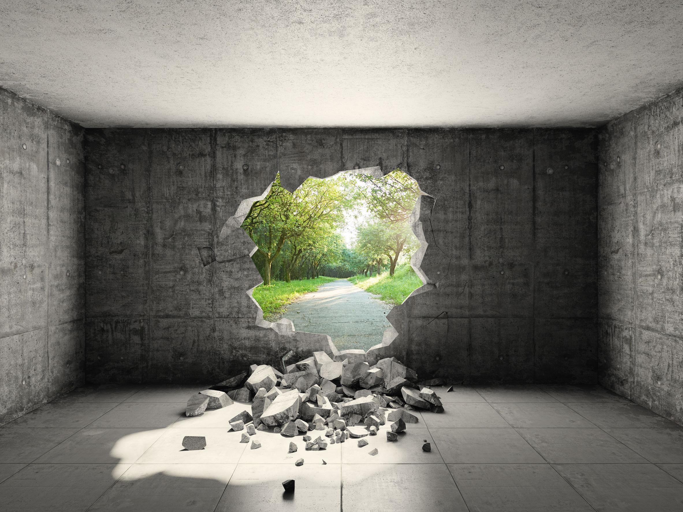 Průlom v životě je jako průlom ve zdi